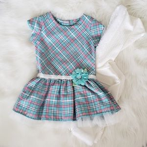 Plaid Dress & Sweater Set